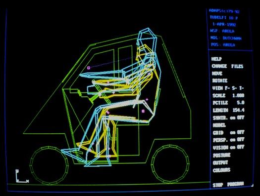 Arola invalidenwagen, getekend in ADAPS.