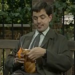 Mr. Bean in het park