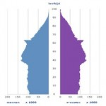 Bevolkingspiramide 2010, bron: CBS