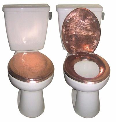 WC-bril van koper