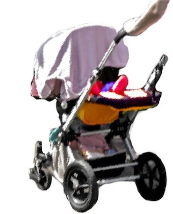 Kinderwagen met Doek