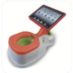 Babypotje met een houder voor een iPad er aan vast.